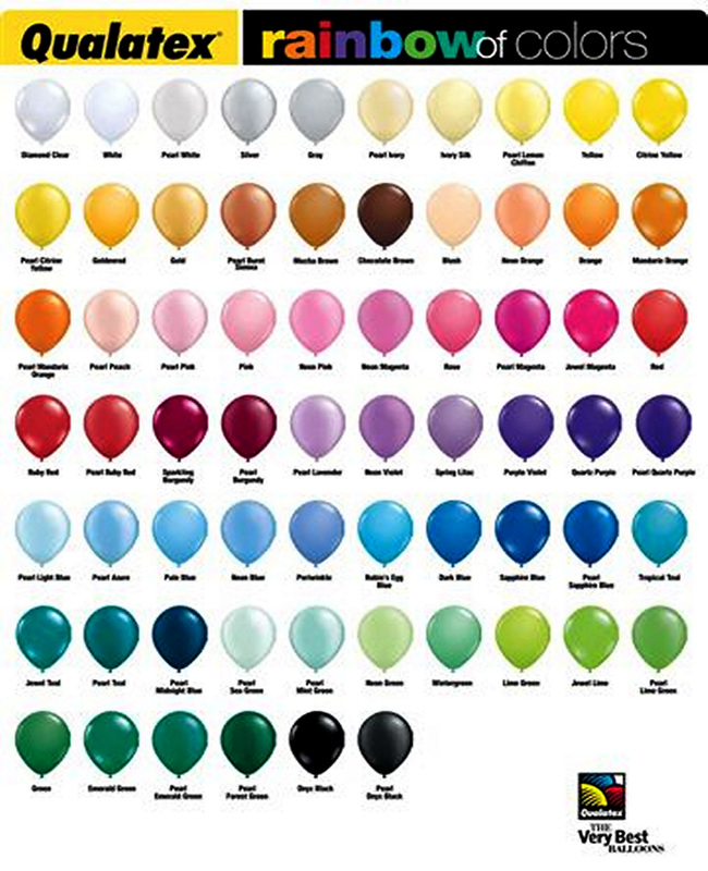 Balloon Color Chart Ballonsbyjoel